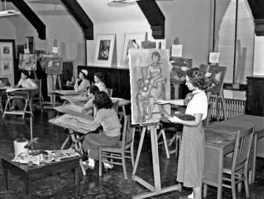 Lindenwood University Art Class, ca. 1955.jpg